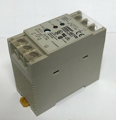Omron S82K-00705 Power Supply, Input: 100-240VAC 0.25A, Output: 5VDC 1.5A