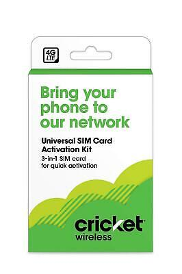 Cricket Wireless $25 Refill Card + Universal SIM Card Activation Kit