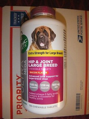 GNC Ultra Mega Hip & Joint For Large Breed Bacon Flavor 120 Count