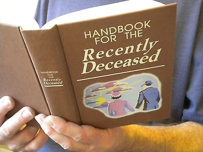 Beetlejuice Handbook Recently Deceased Book movie prop - Gift - Tim Burton