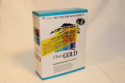 "XTree Gold File Management 3.0 DOS Complete Vintage Retail Package 3.5"" floppies"