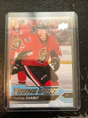 2016-17 UD Upper Deck Thomas Chabot Ottawa Senators Young Guns #488 Mint