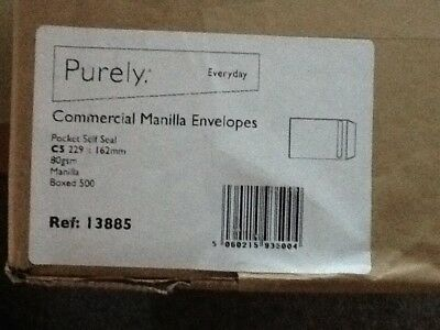 Purely Commercial Manilla Envelopes C5 X 500