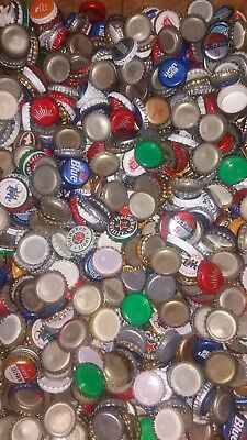 500 Bulk/lot Beer Bottle Top Caps, Assorted For Arts And Crafts Or Collection