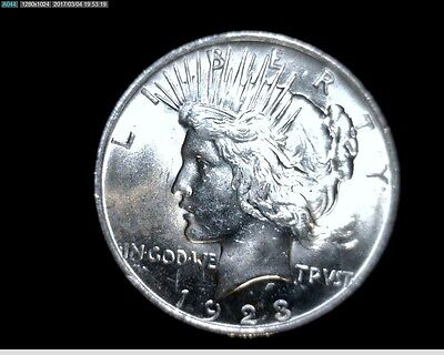 1923 P Uncirculated Silver Peace Dollar #5505
