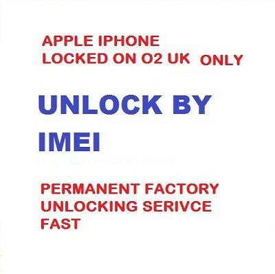 O2 TESCO Unlocking code Service for Iphone  8 Plus X iPhone 10 Ten Quick Unlock
