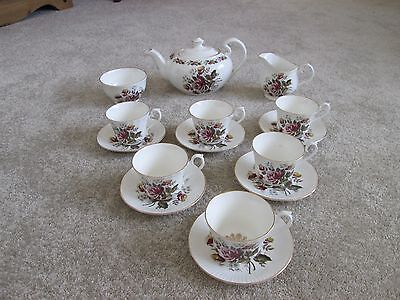 ROYAL SUTHERLAND  H & M Bone China Tea Set, 15 pieces