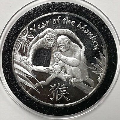 Year Of The Monkey Lunar Series Coin 1 Troy Oz .999 Fine Silver Round Medal 999