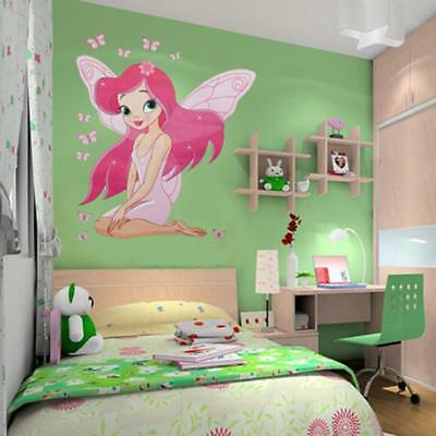 Princess Fairy Butterfly Wall Stickers Girl Nursery Baby Room Decals Decor N7