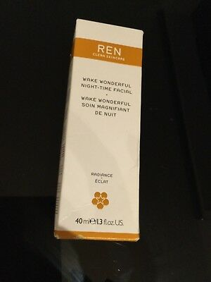 Ren Wake Wonderful night-time facial treatment for all skin types 40ml RRP £34