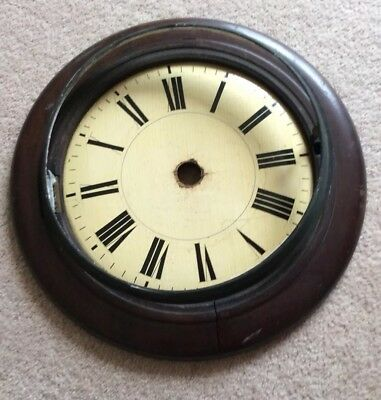 Antique Vintage  Wall Clock Dial And Surround for Restoration