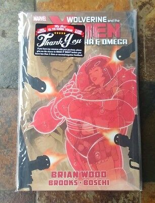 Wolverine & The X-Men: Alpha & Omega by Brian Wood Hardcover - New & Sealed HC