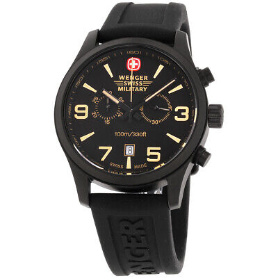 Wenger Black Dial Stainless Steel Men's Watch 019143202