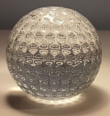 Vintage Waterford Crystal Heavy Golf Ball Paperweight, Golfball, SIGNED, 5.7cm