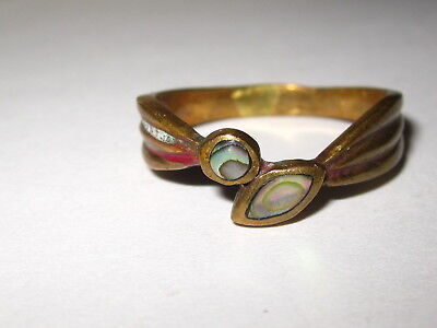 toller Ring   Messing   Abalone   Seeopal     GR 60