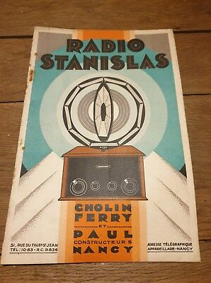Rare Catalogue Radio Stanislas