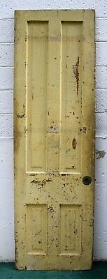 "26""x88"" Antique Vintage Victorian SOLID Wood Wooden Interior Door 5 Raised Panel"