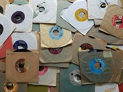 "LOT of 30 Vintage Vinyl 7"" inch 45 Records Crafts Decoration FREE U.S. SHIPPING"