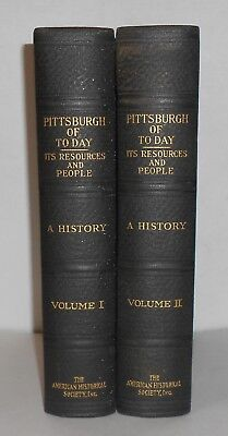 PITTSBURGH of TODAY Its Resources and People 1931 Antique Book Volume 1 & 2