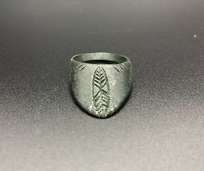 Ancient Roman Archaic Ca.400 Ad Archers Ring With Decoration  - Wearable Gift-