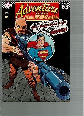 Adventure Comics 358  Legion of Super-Heroes Superboy Stalked by The Hunter VF