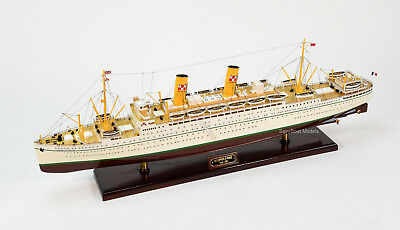 "RMS Empress of France Ocean Liner Wooden Ship Model 36"" Scale 1:200"
