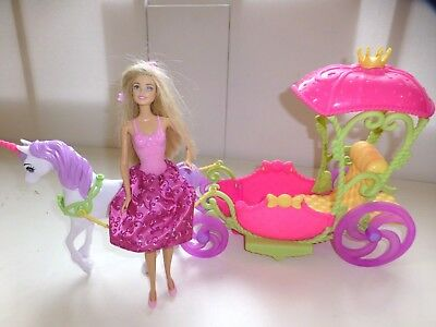 Barbie Dreamtopia Carriage, with unicorn and princess
