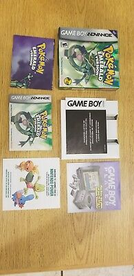 Pokemon Emerald Version GBA Box and Inserts Only NO GAME very good condition.