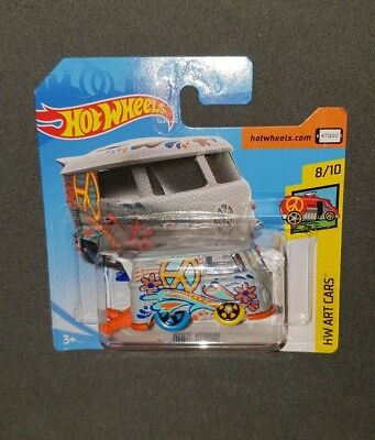 Hot Wheels VW T1 Bulli Bus Kool Kombi OVP Modellauto 8/10 HW Art Cars 2018