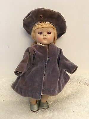 Vintage Early Tagged Vogue Ginny Coat And Hat Outfit Only No Doll