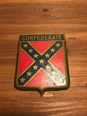 Vintage Badge Auto Car DRAGO 1950s original Confederate USA Paris