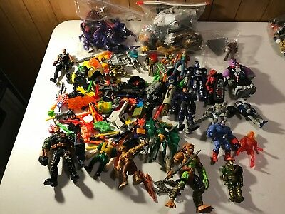 Huge vintage mixed lot of 1980s-1990s action figures Toy Soldiers +much more!