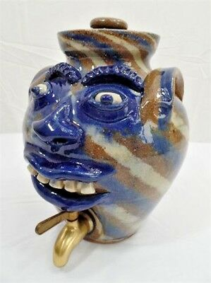 A.V. Smith Sanford, NC Folk Art Pottery Face Beverage Dispenser