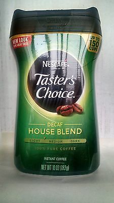 Nescafe Tasters Choice 100 Pure Instant Coffee Decaf TWO 10 oz BOT  FREE SHIPING