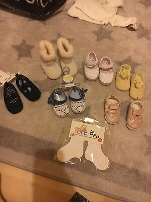 Pink baby girl pram shoes 3-6 Months Bundle