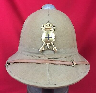 Ww2 Italian Fascist Tropical Pith Helmet Infantry Original Wwii