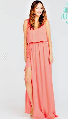 f6de7f2918 SHOW ME YOUR Mumu Kendall Maxi Dress ~ Bright Coral Crisp Size Large ...