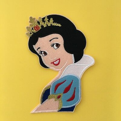 LARGE DISNEY PRINCESS BELLE SNOW WHITE  EMBROIDERED APPLIQUÉ PATCH SEW IRON ON