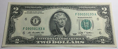 United States 2009 Two Dollars Note - F09050193A