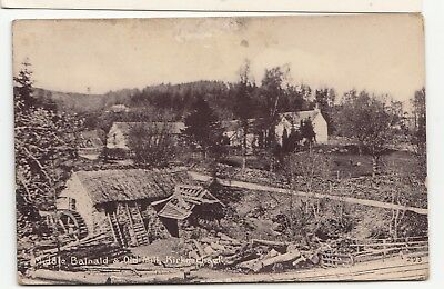 1920s  card Middle Balnald & Old mill Kirkmichael Blairgowrie Perthshire  Unused