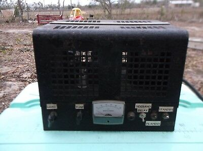 homebrew working 10 meter ham radio linear amplifier with four 807 tubes WORKS