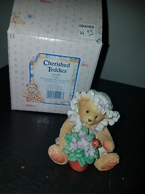 Cherished Teddies VIOLET Blessings Bloom When You Are Near 156280