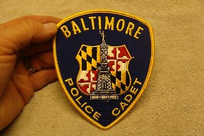 BALTIMORE MARYLAND MD Police Cadet POLICE PATCH nos BLUE YELLOW DEPT