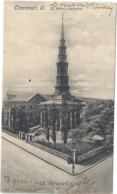 Cincinnati, Oh: 1906: View Of St. Peter's Church And Steeple