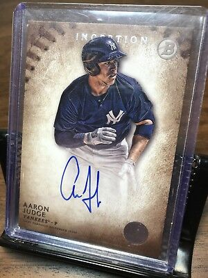 Aaron Judge 2015 Topps Bowman Inception Prospect Certified Autograph Card PA-AJ