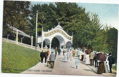 Cincinnati, Oh: 1910: Sunday Crowd Going To The Entrance Of Coney Island