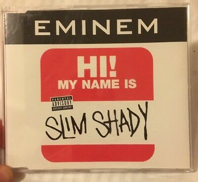 """Eminem. """"My Name Is"""". Dr. Dre. 1999. 3 Track CD Single. Marshall Mathers."""