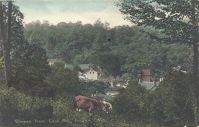Foster, Cincinnati, Oh: 1910: View Of Town From The East Hill