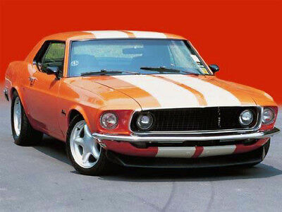 1969 Ford Mustang Coupe TANGERINE & CREAM  1969 Mustang coupe