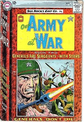 Our Army At War #148 SGT.  ROCK!!Silver Age DC Comics War!!! 1964